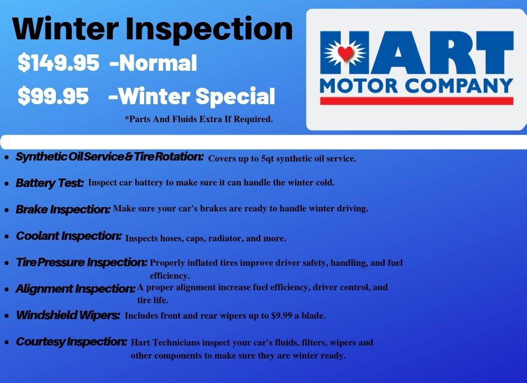 Hart Motors Winter Service Inspection